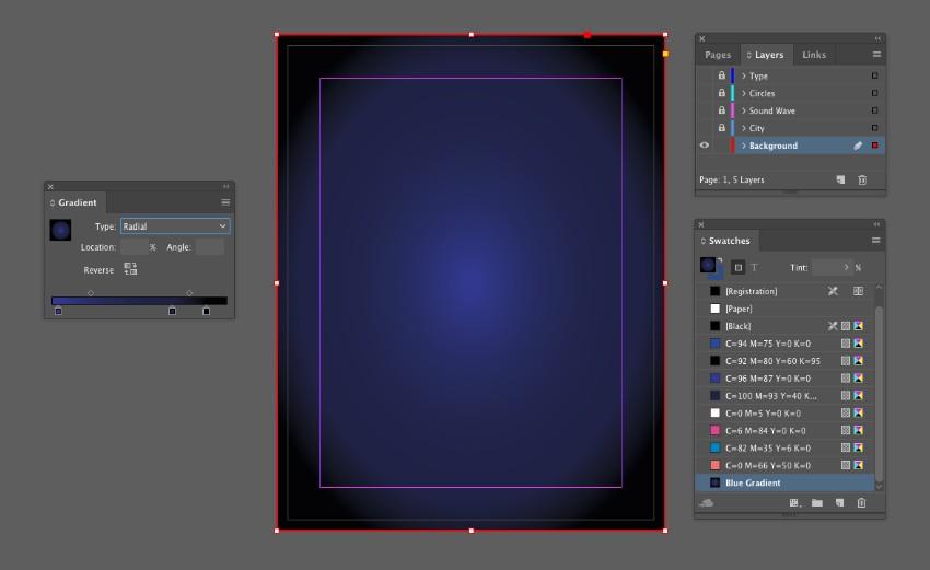 gradient on shape