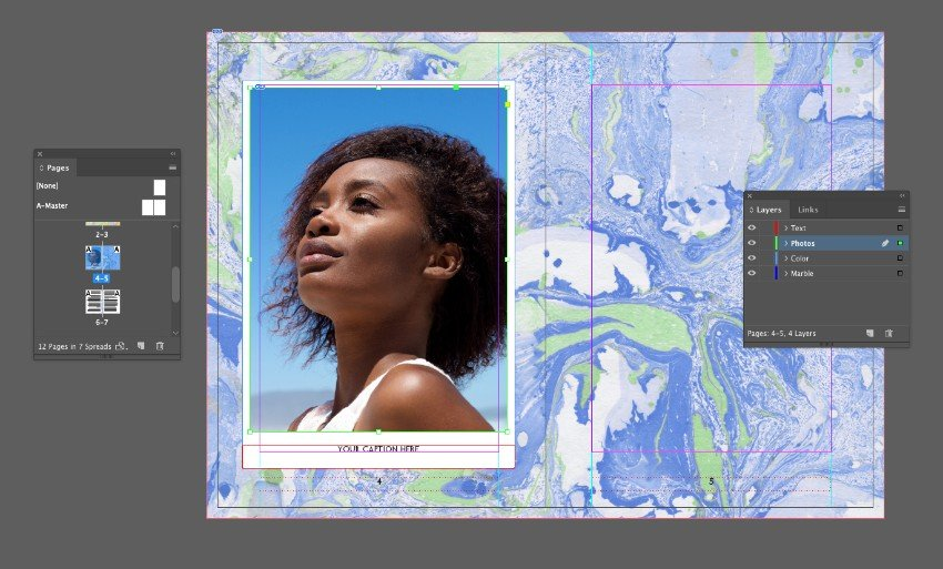 pasted image of girl