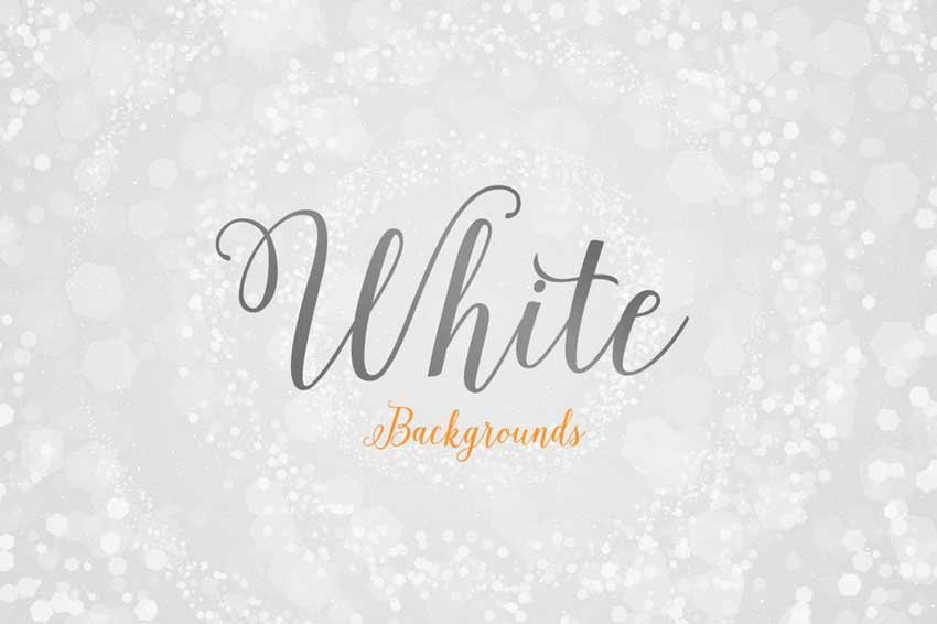White Background With Design Abstract