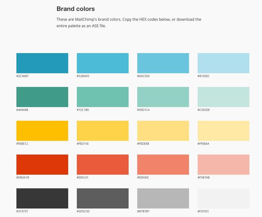 mailchimp brand colors