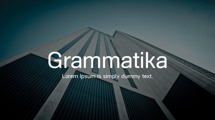 as grammatika - a font similar to helvetica