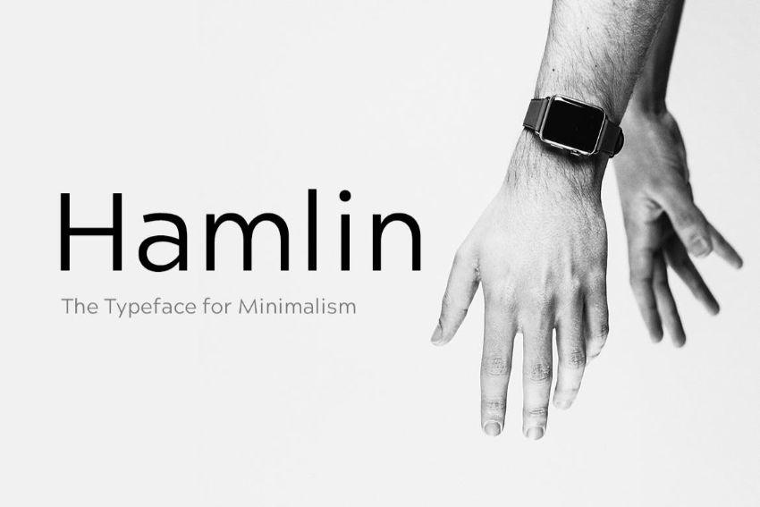 hamlin - a font similar to helvetica