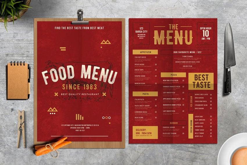 rustic menu