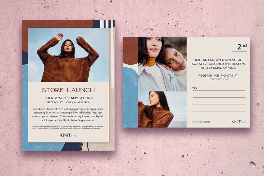 retail fashion postcard