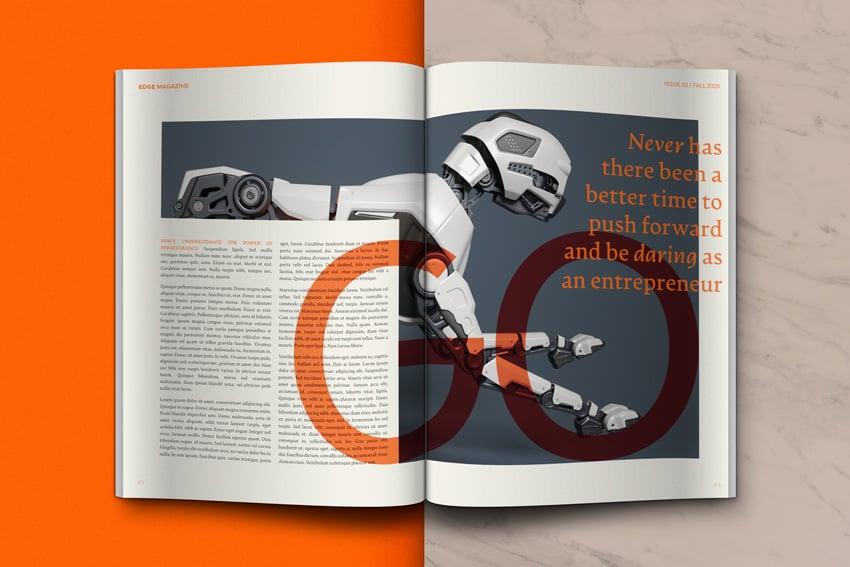 inside magazine spread