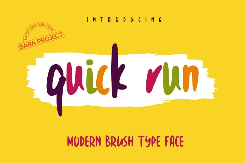 quick run font