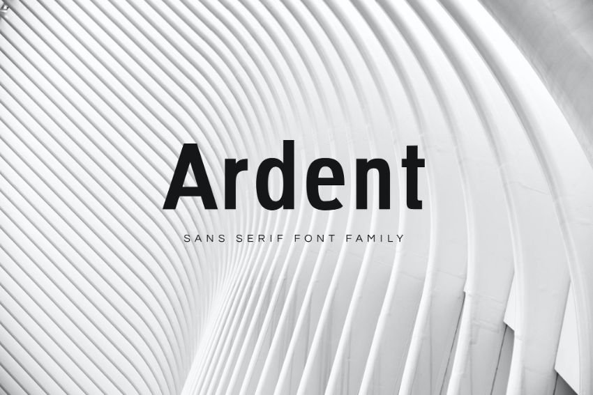 ardent font family