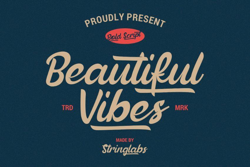 beautiful vibes font