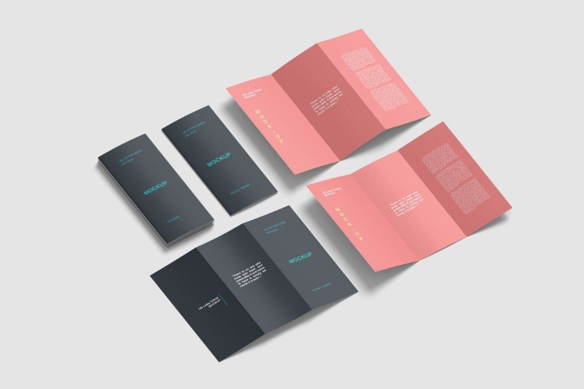 tri fold brochure set