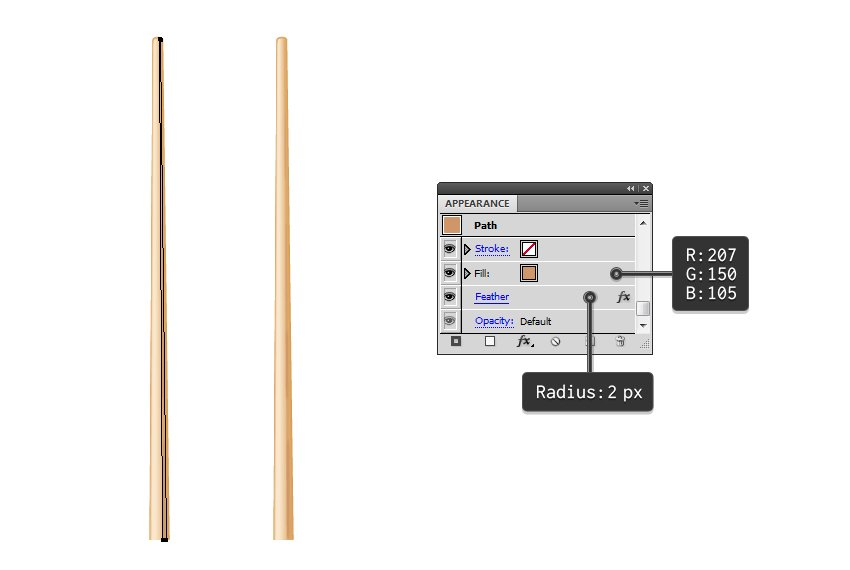 add shading to vector chopstick