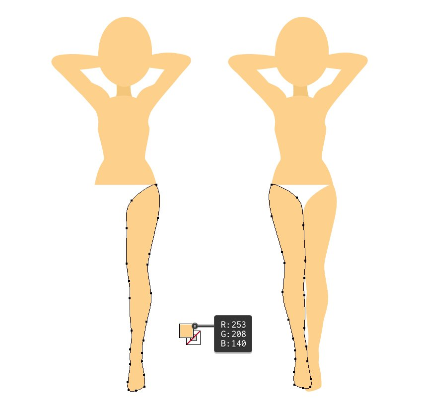 draw the legs of blonde girl