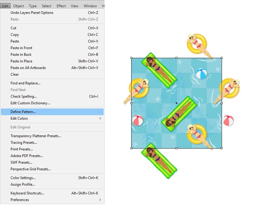 define the pool seamless pattern