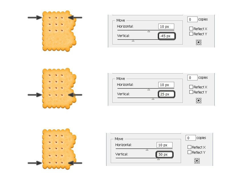 create the other biscuit holes on B