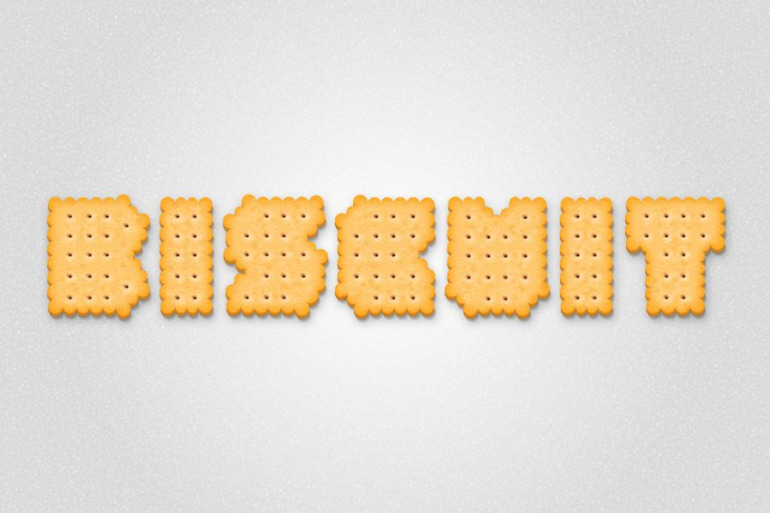 final biscuit text effect