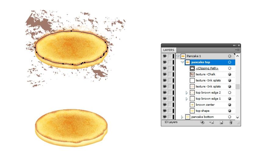 mask texture on pancake top