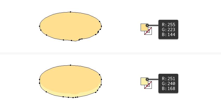 draw a plain pancake