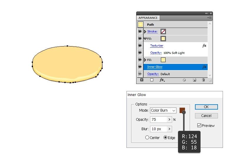 define bottom edge of the pancake