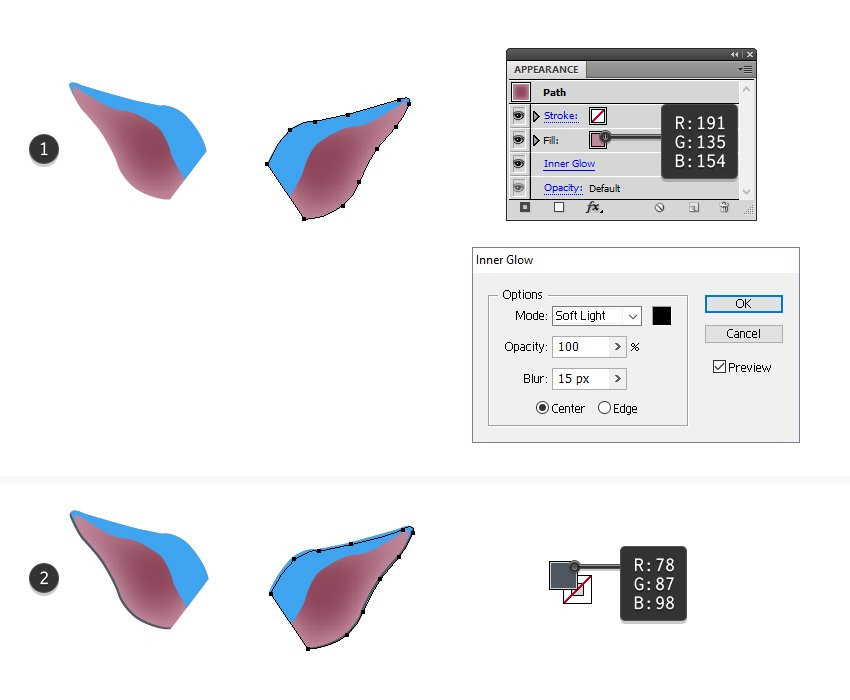 how to color the bigger part of the bats ear