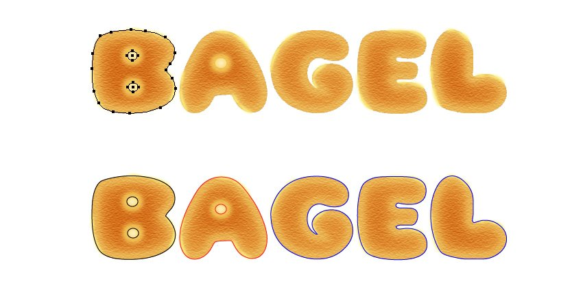 how to make copies of bagel letters