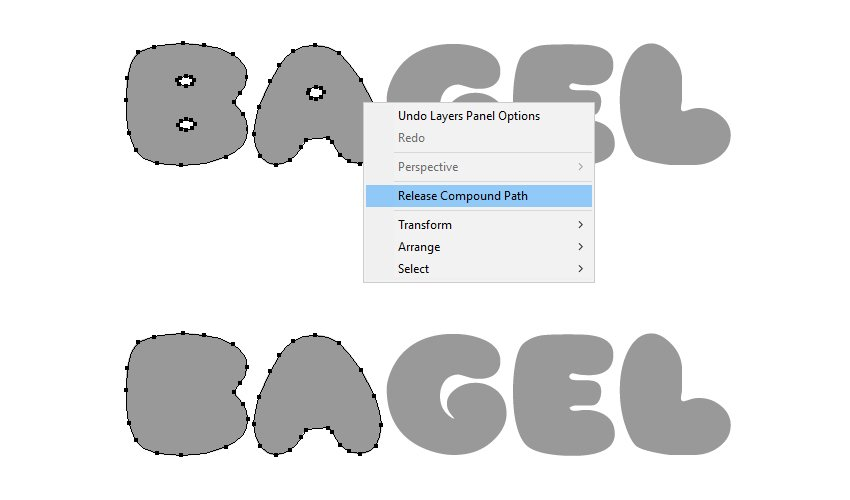 how to modify the bagel text