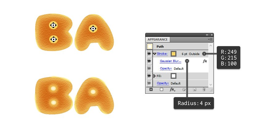 how to draw the bagel holes