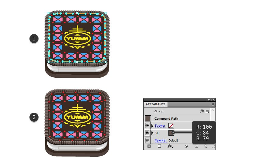 how to recolor Oreo dashed line