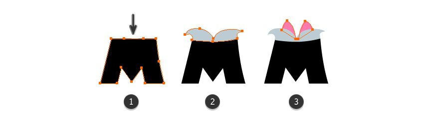 how to distort the letter M
