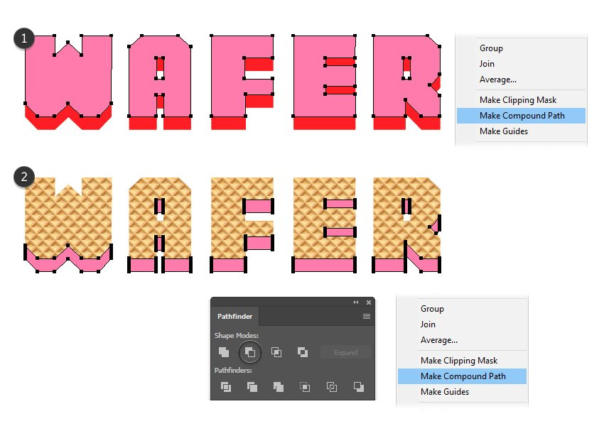 how to create a wafer layers masking shape