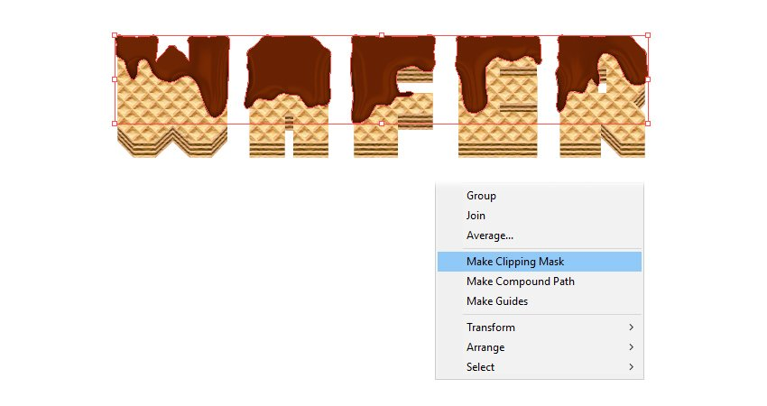 how to mask the melted chocolate on wafer letters