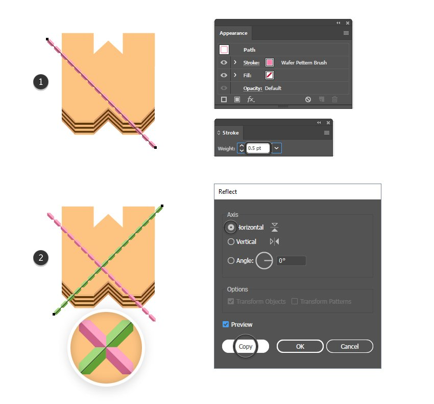how to apply the wafer pattern brush