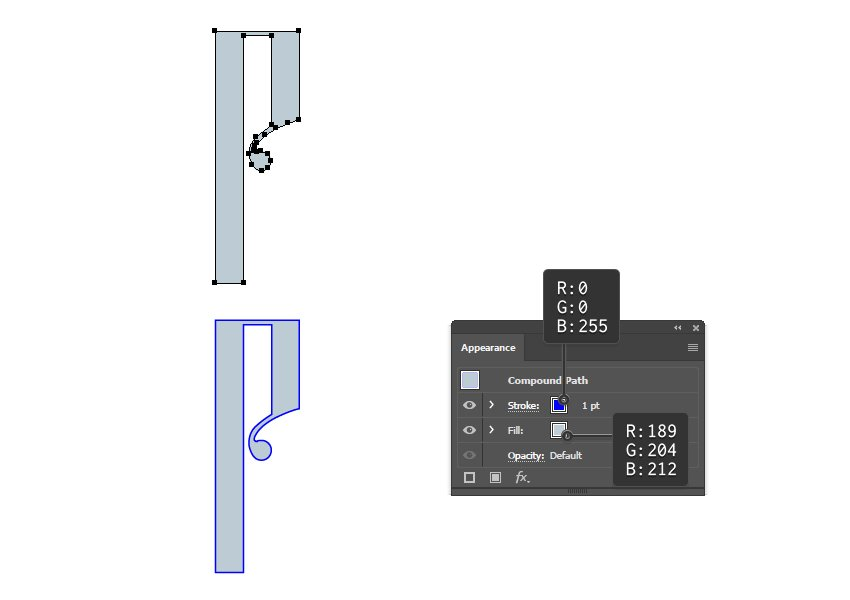 how to create the first and second layer of Russian vector letter