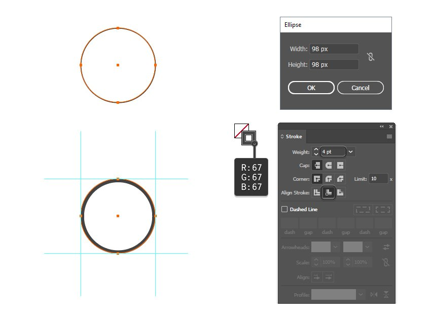 how to create the first vector social media icon shape