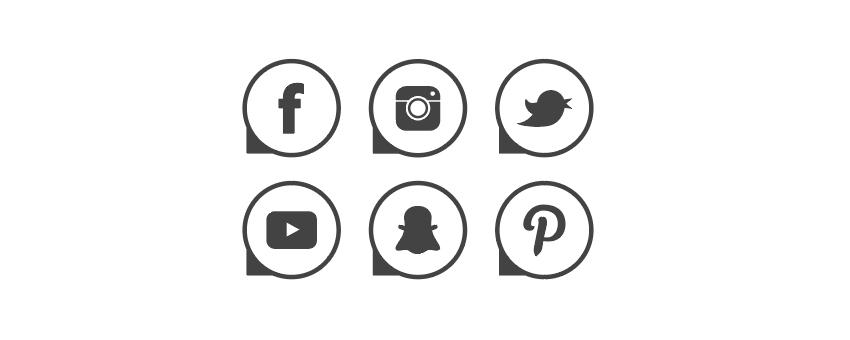 how to arrange social media vector icons