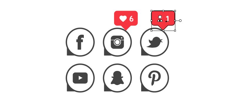 how to arrange notification vector icons