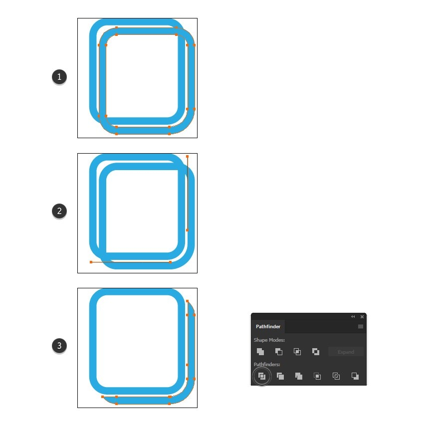 how to make the two pages icon design