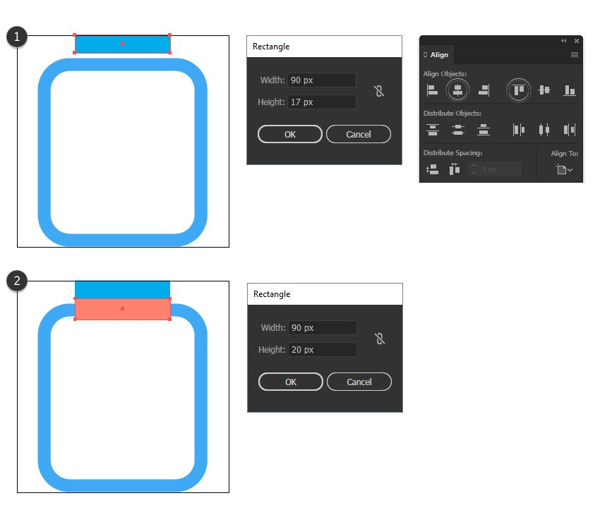 how to define the clip area for the report minimal icon