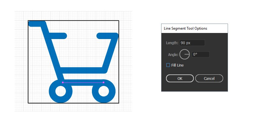 how to make the bottom of purchase icon
