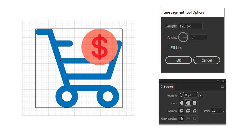 how to complete the chart icon design