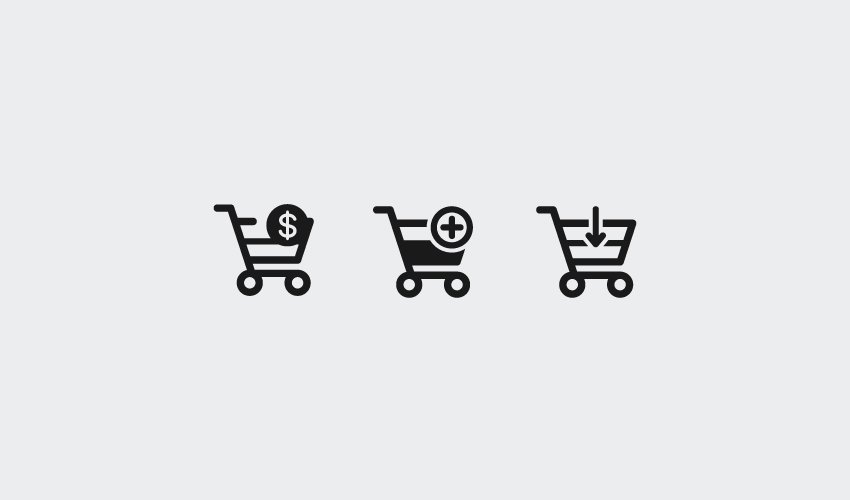 how to make minimal purchase icons