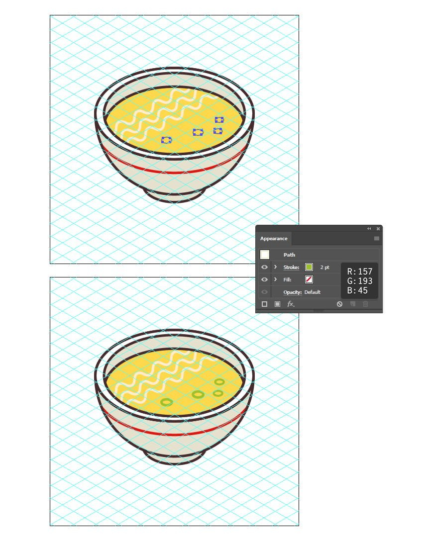 how to finalize the noodle soup icon