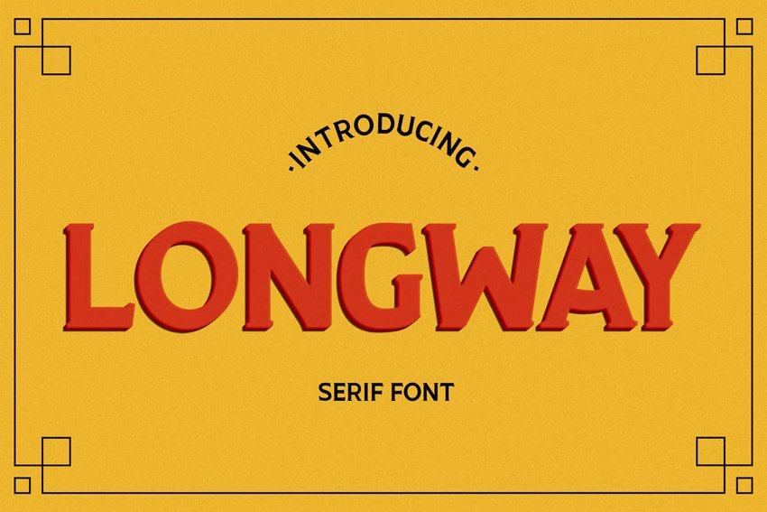 Longway Font recommended from Envato Elements