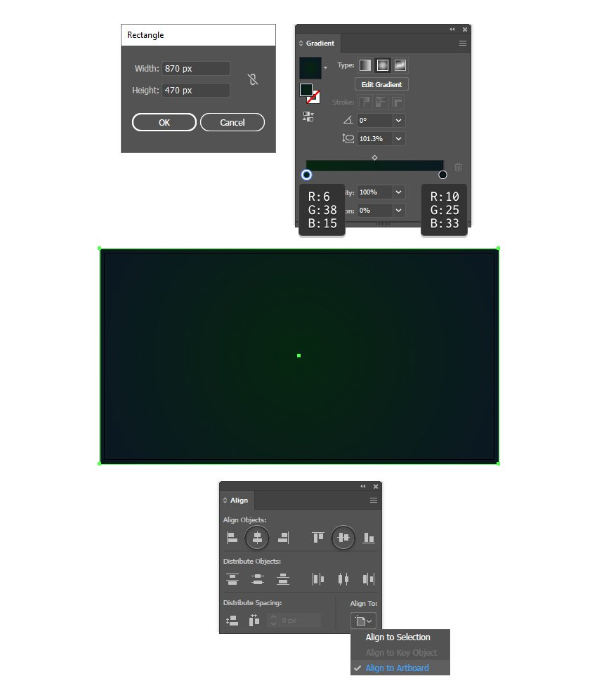 how to create a background in Adobe Illustrator