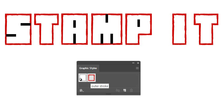 How to save the distressed Hanko stamp look as a graphic style in Illustrator
