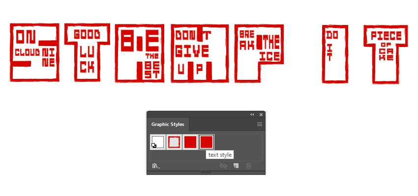 How to apply the distressed look for all japanese style font