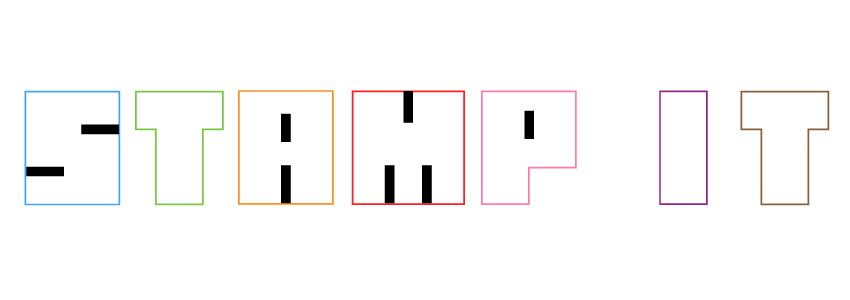 Japanese Hanko stamp letters for Illustrator text effect