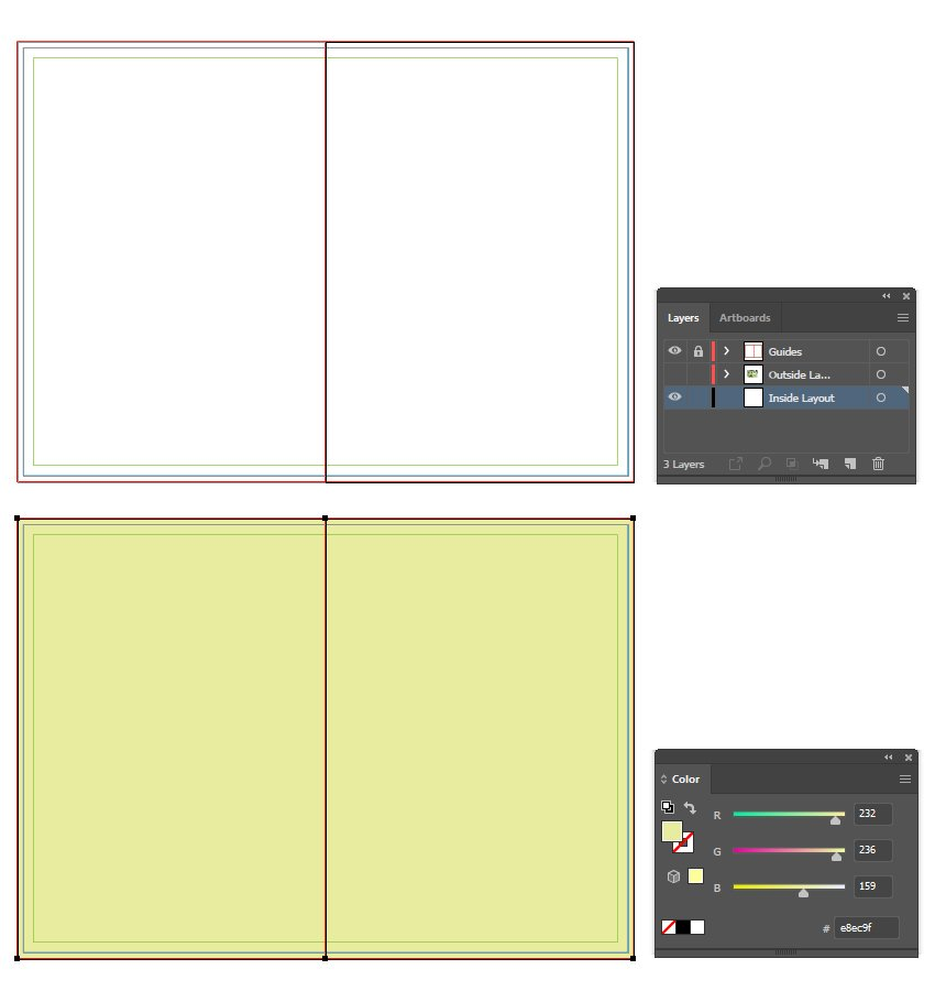 how to create the inside layout for brochure template in illustrator