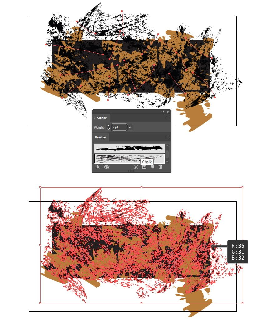 how to create the second texture of camouflage pattern in Illustrator