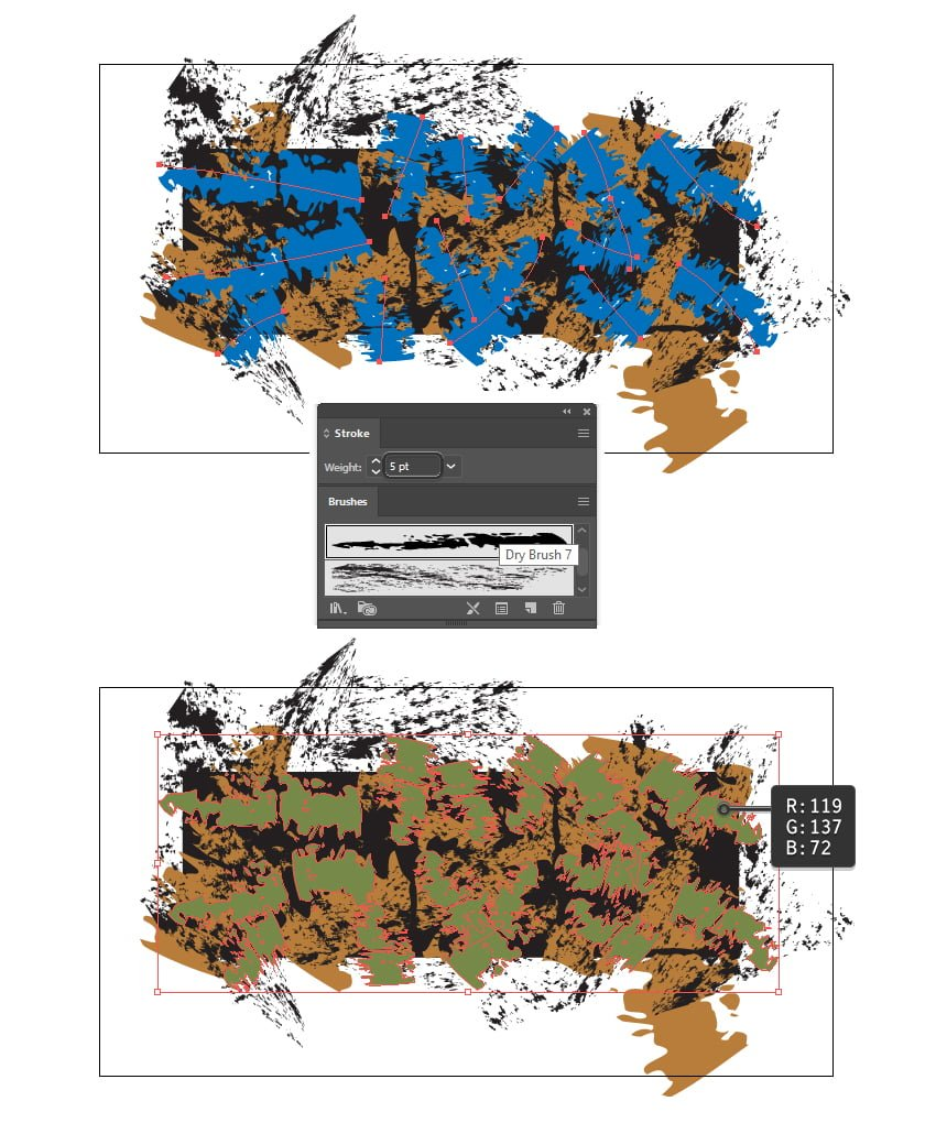 how to create the third texture of camouflage pattern in Illustrator
