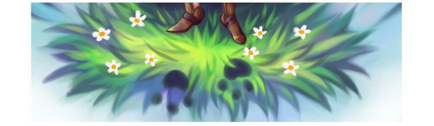 Adding flowers and footprints
