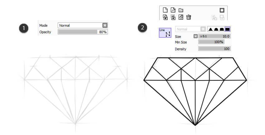 Create Line work based on sketch